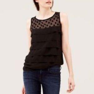 SALE 2/20 Loft black blouse